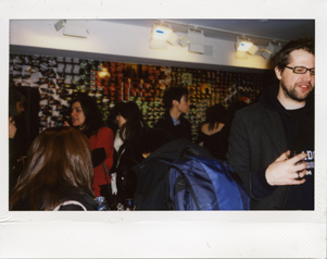 Michael chatting about his modified Diana, notice the photo wall!