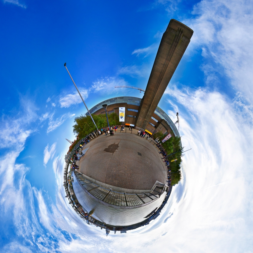 360 degree Spherical Panorama of The Tate Modern and Thames River